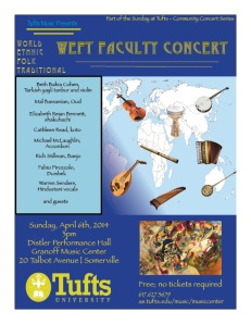 4-6-14 WEFT Faculty Concert Poster