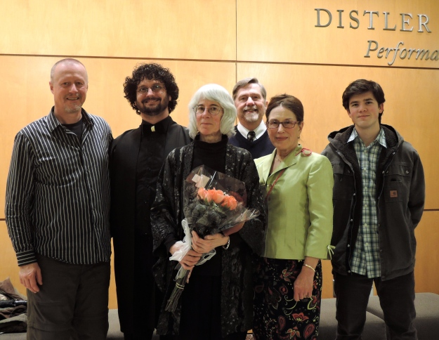Left to right: John McDonld, Aaron Larget-Caplan, Elizaneth, Martin Max Schreiner, Jeannette Chechile, Jeffery Shivers. Photo: Catherine Larget-Caplan