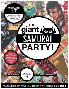 giant-samurai-party-poster-worcester-art-museum